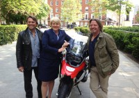 Showing the BMW off to Barbara Stephenson